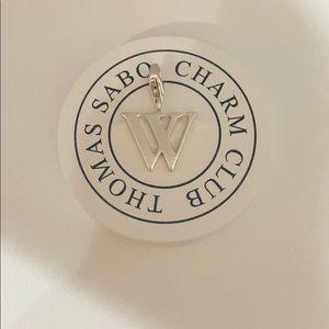 """Thomas Sabo letter """"W"""" charm"""